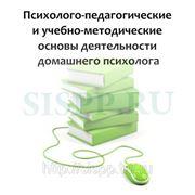 Психолог-педагогические и учебно-методическик основы деятельности домашнего психолога,воспитателя,няни.