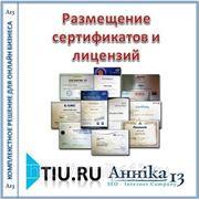 Размещение сертификатов и лицензий для сайта на tiu.ru фото