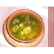 Суп з галушками і курячими нутрощами — Суп с галушками и куриными потрохами