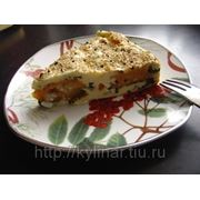 Пирог с морковью и яйцом фото
