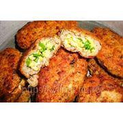 Зразы куриные с яцом и луком фото