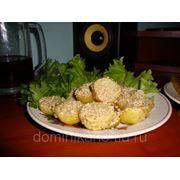 Гарнир из картофеля с кунжутом фото