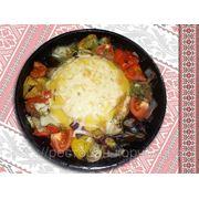Мамалига з овощами — Мамалыга с овощами фото