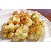 Жареная цв. капуста, карт. отвар. с зел. фото