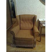 Обивка кресла новой тканью и замена полиуретана