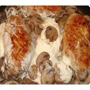 Куриный кармашек с грибами фото
