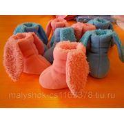 Пинетки-сапожки заяц фото