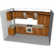 """Угловая кухня в стиле кантри с итальянскими фасадами """"Мериленд"""" фото"""