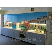 Кухонный фасад с рисунком, фотопечать на стекле фото