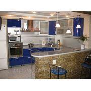 Кухня круговая 2 фото