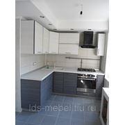 Кухня с фасадами МДФ + пластик фото
