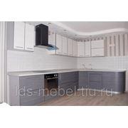 Кухня с фасадами МДФ + пластик