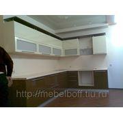Кухни на заказ в Новосибирске бежево-коричневая