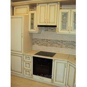 Кухня с натуральным фасадом беленый дуб фото