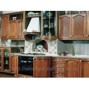 Кухня из дерева фото
