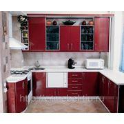 Кухня с красного пластика