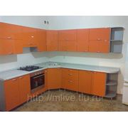Кухня оранжевая мдф фото