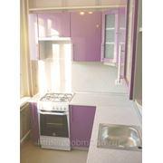 Фасады: Фиолетовый металлик, корпус: Металлик. Кухни на заказ Металлик