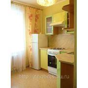 Фасады:Лимон и Салатовый металлик, корпус: Бук 5113. Кухни на заказ СПб
