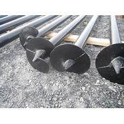 Сваи винтовые металлические сварные для устройства фундаментов заборов, зданий, сооружений, домов, бань, трубо и газопроводов, пирсов, причалов фото
