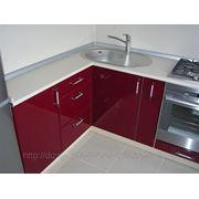 Кухня бордо+ваниль фото