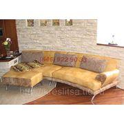 Кожаный диван для гостиной фото