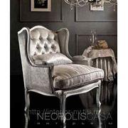 Кресло Federica, отделка сусальное серебро фото