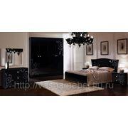 """Спальня """"Европа 9"""" итальянские фасады, акрилак, 3D текстура-чёрная фото"""