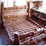 Кровать из корнепластики фото