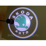 Проектор в двери автомобиля 5W (компл. 2шт.) SKODA 089 фото