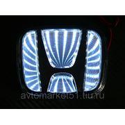 Эмблема светодиодная 3D HONDA 9,8х8см. White фото