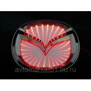 Эмблема светодиодная 3D MAZDA 10,1х8cм. Red