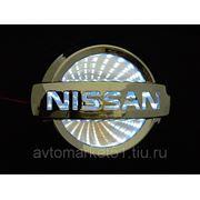 Эмблема светодиодная 3D NISSAN 11,7х10cм. White