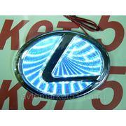 Эмблема светодиодная 3D LEXUS 10,5х6,8cм. White фото