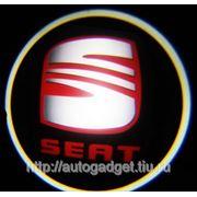 Подсветка дверей с логотипом авто Seat