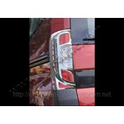 Накладки на стопы Fiat Fiorino 2008'-...Abs.хром фото
