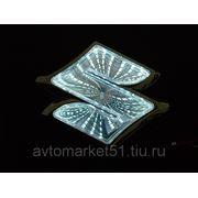 Эмблема светодиодная 3D SUZUKI 8,05х7,98cм. White фото