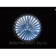Эмблема светодиодная 3D MERCEDES 8,7х8,7cм. White фото