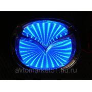 Эмблема светодиодная 3D MAZDA 10,1х8cм. Blue фото