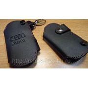 Кожаный чехольчик для ключа Ауди фото