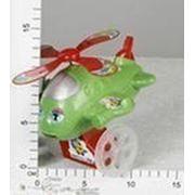 Каталка-самолет с ручкой, свет+звук, в ассорт фото