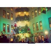 Прокат и аренда 12 светодиодных голов с подвесом до 4 м на Новогодние мероприятия фото