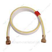 Шланг газовый ПВХ армированный белый N0593.3 L=500 1/2 В/В (металлические гайки) №094716 фото