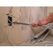 Проведение и ремонт электропроводки фото