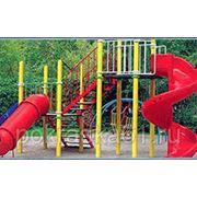 Порошковая покраска детских площадок фото