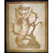 Картина Девушка (Гравировка на дереве)