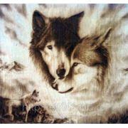 Картина Волки (Гравировка на дереве)