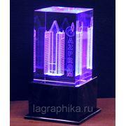 Стеклянные кубики с изображением внутри - лазерная гравировка
