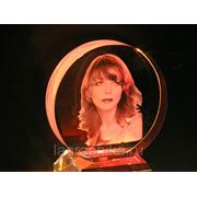 Портрет в стекле - лазерная гравировка