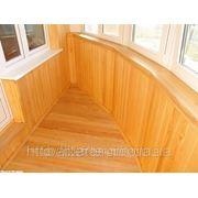 Монтаж деревянной вагонки на балконе, цены фотография